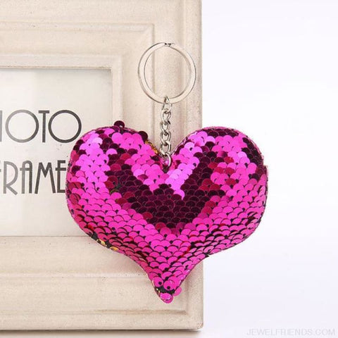 Image of Cute Glitter Pompom Sequins Key Chains - Kcy003 - Custom Made | Free Shipping