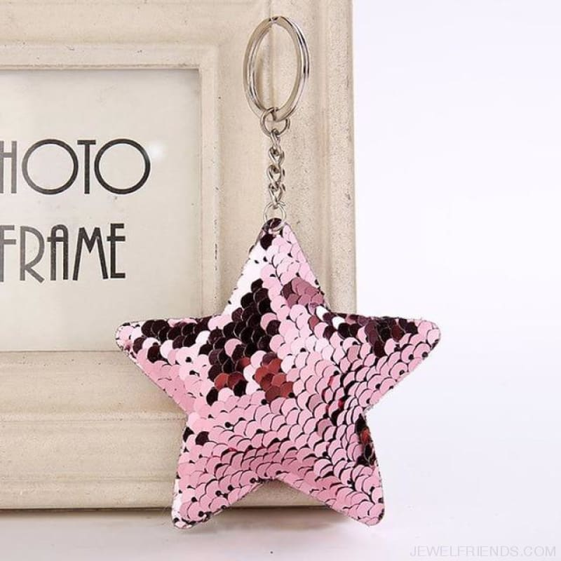 Cute Glitter Pompom Sequins Key Chains - Kcy005 - Custom Made | Free Shipping