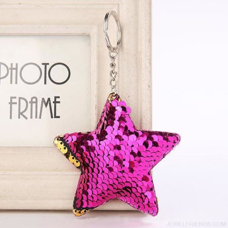 Cute Glitter Pompom Sequins Key Chains - Kcy007 - Custom Made | Free Shipping