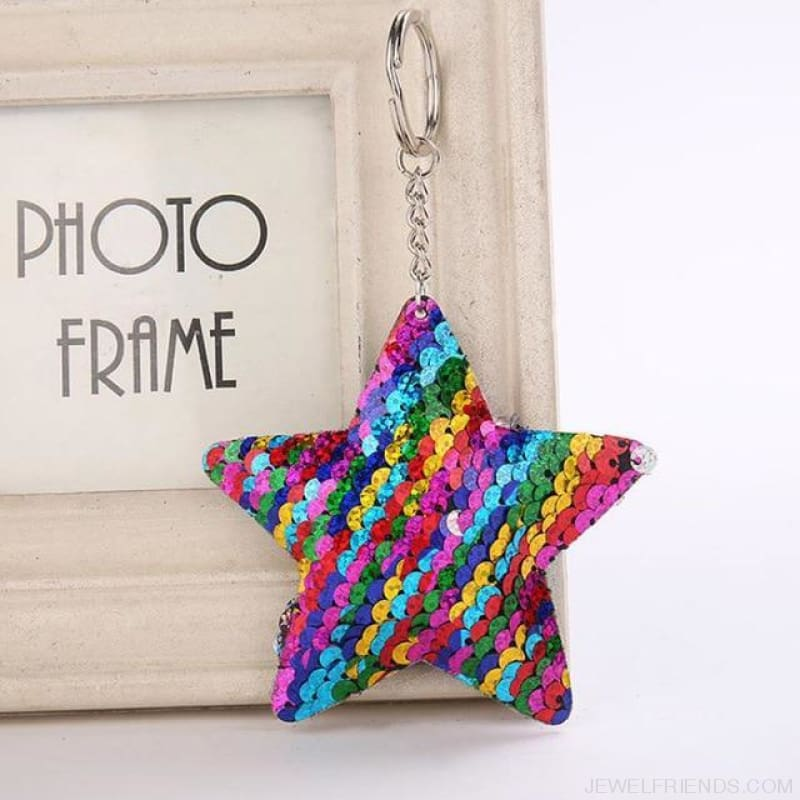 Cute Glitter Pompom Sequins Key Chains - Kcy008 - Custom Made | Free Shipping