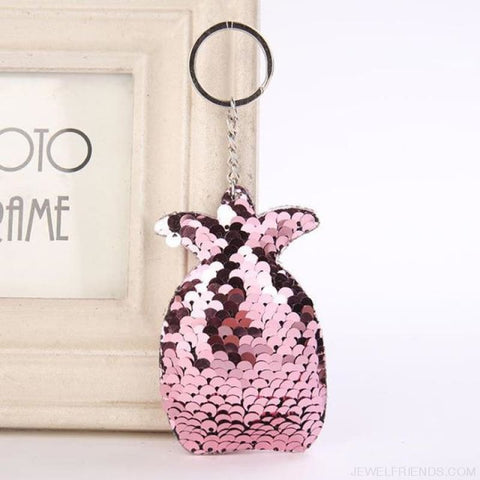 Image of Cute Glitter Pompom Sequins Key Chains - Kcy009 - Custom Made | Free Shipping