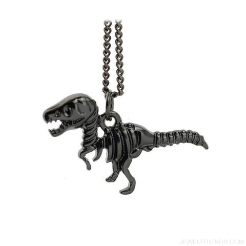 Image of Dinosaur Rex Pendant Necklace - Black - Custom Made | Free Shipping