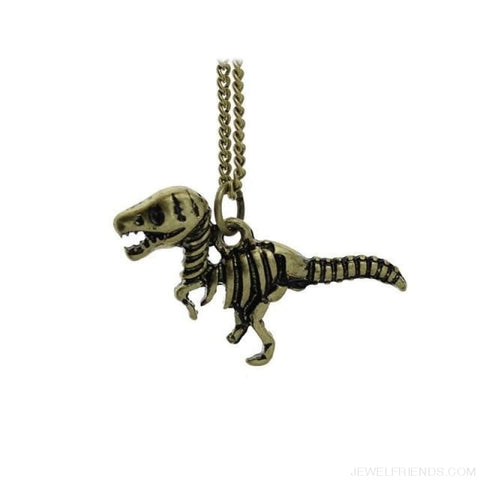 Image of Dinosaur Rex Pendant Necklace - Bronze - Custom Made | Free Shipping