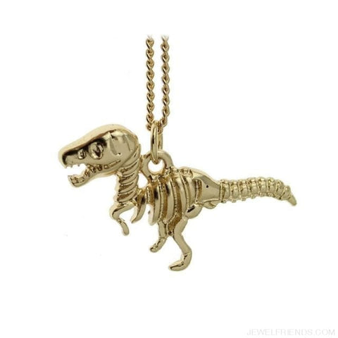 Image of Dinosaur Rex Pendant Necklace - Gold - Custom Made | Free Shipping