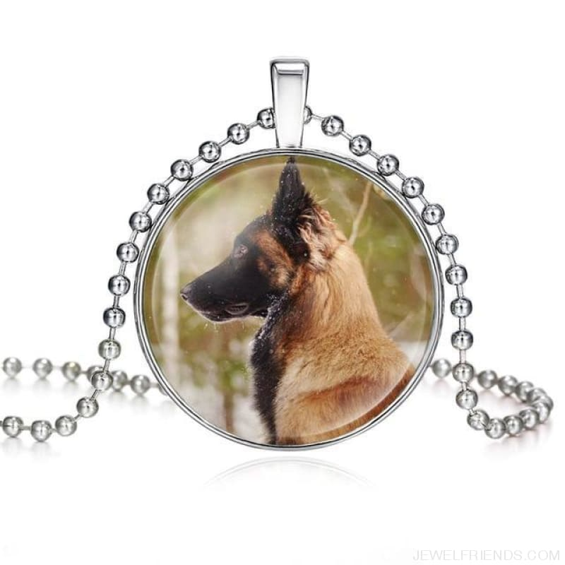 Dogs Pictures Glass Cabochon Pendant Necklace - 62040001 - Custom Made | Free Shipping