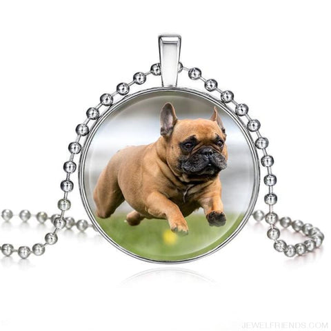 Image of Dogs Pictures Glass Cabochon Pendant Necklace - 62040002 - Custom Made | Free Shipping