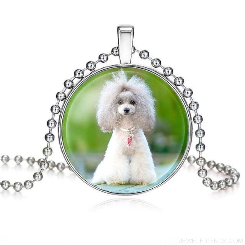 Dogs Pictures Glass Cabochon Pendant Necklace - 62040003 - Custom Made | Free Shipping
