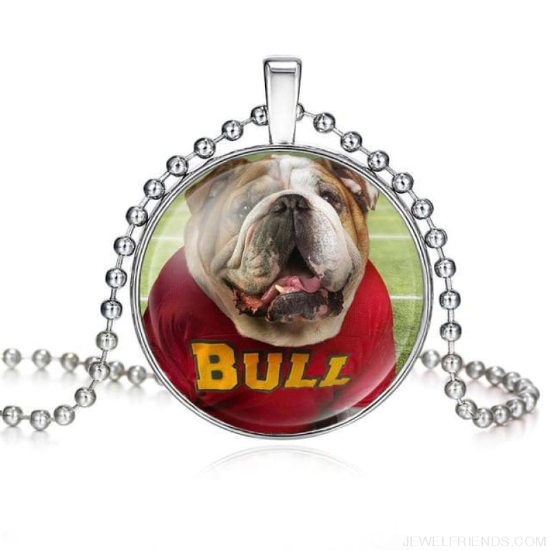 Dogs Pictures Glass Cabochon Pendant Necklace - 62040012 - Custom Made | Free Shipping