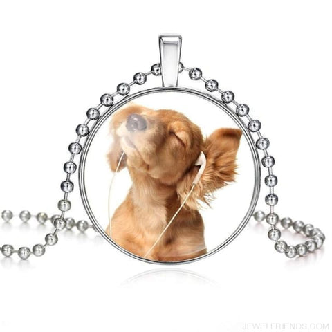 Image of Dogs Pictures Glass Cabochon Pendant Necklace - 62040013 - Custom Made | Free Shipping