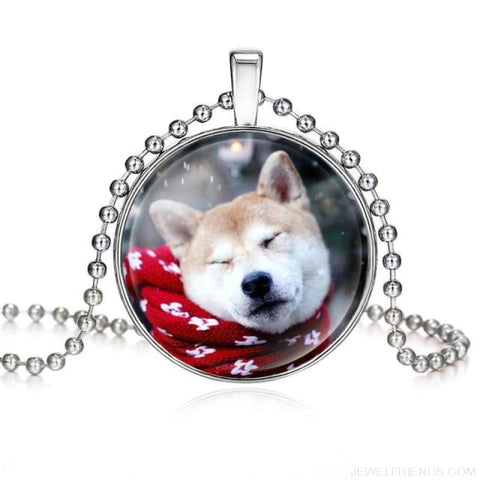 Image of Dogs Pictures Glass Cabochon Pendant Necklace - 62040014 - Custom Made | Free Shipping