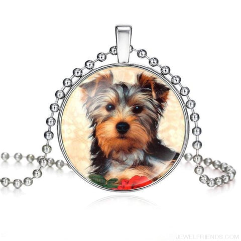 Image of Dogs Pictures Glass Cabochon Pendant Necklace - 62040017 - Custom Made | Free Shipping