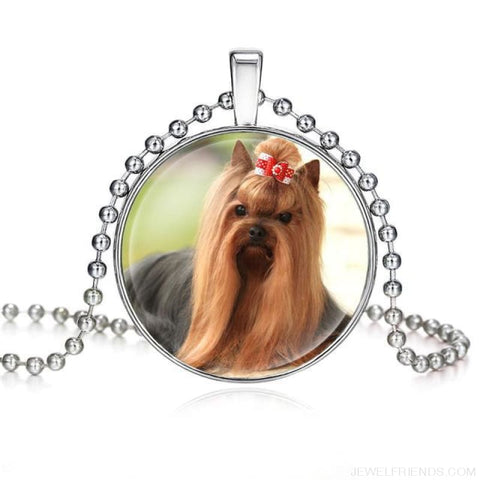Image of Dogs Pictures Glass Cabochon Pendant Necklace - 62040019 - Custom Made | Free Shipping