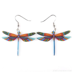 Dragonfly Acrylic Earrings - Custom Made | Free Shipping