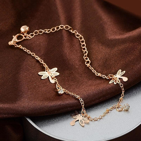 Dragonfly Chain Anklet - Custom Made | Free Shipping