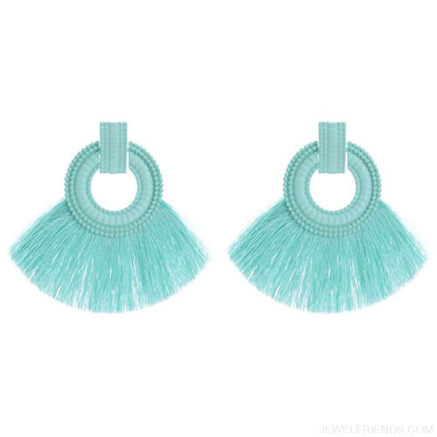 Image of Ethnic Beach Tassel Large Statement Fringing Earing - Custom Made | Free Shipping