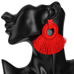 Ethnic Beach Tassel Large Statement Fringing Earing - Custom Made | Free Shipping