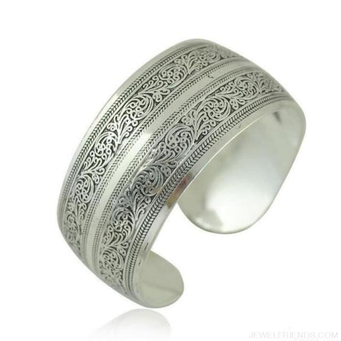 Image of Ethnic Carved Pattern Elephant Cuff Bracelets - Sxrz594 - Custom Made | Free Shipping