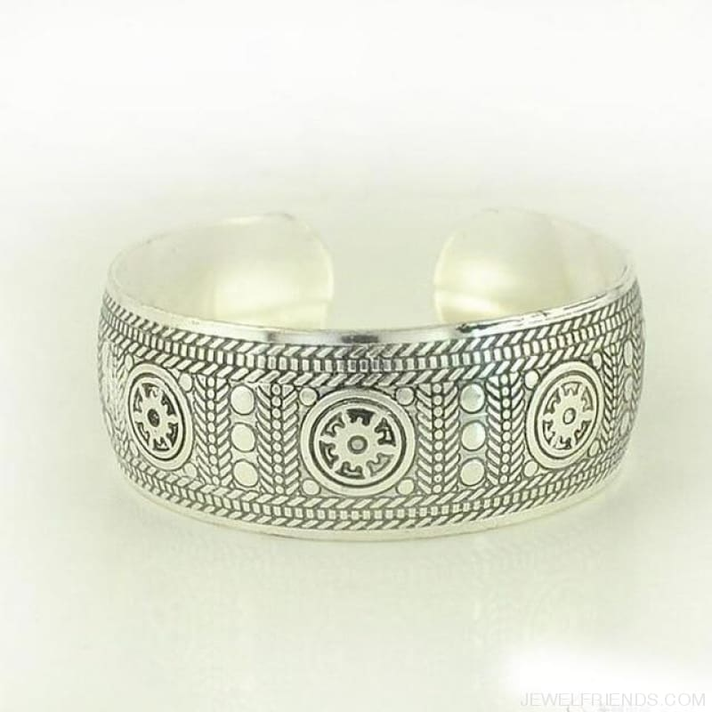 Ethnic Carved Pattern Elephant Cuff Bracelets - Sxrz596 - Custom Made | Free Shipping