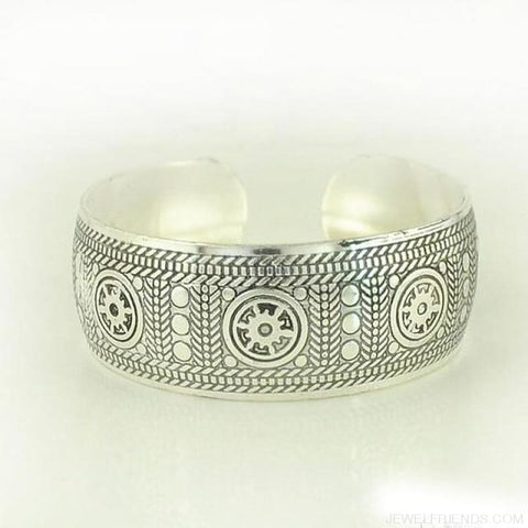 Image of Ethnic Carved Pattern Elephant Cuff Bracelets - Sxrz596 - Custom Made | Free Shipping