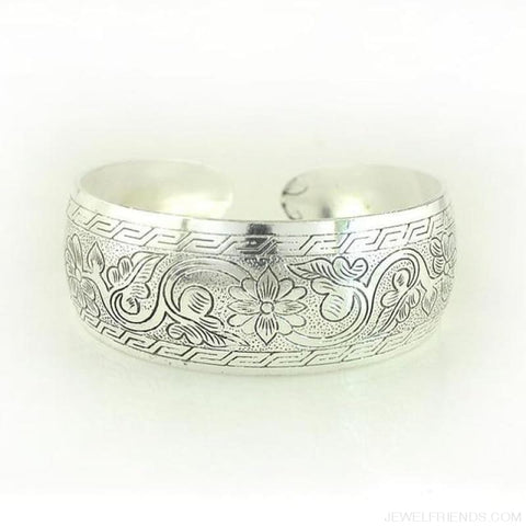 Image of Ethnic Carved Pattern Elephant Cuff Bracelets - Sxrz598 - Custom Made | Free Shipping