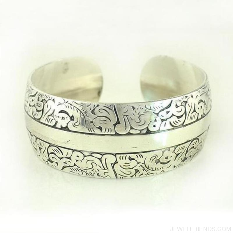 Ethnic Carved Pattern Elephant Cuff Bracelets - Sxrz600 - Custom Made | Free Shipping