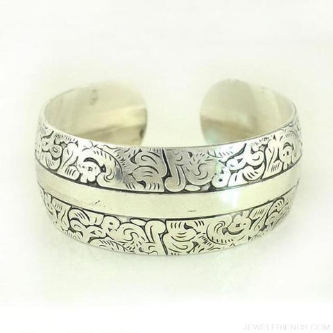 Image of Ethnic Carved Pattern Elephant Cuff Bracelets - Sxrz600 - Custom Made | Free Shipping