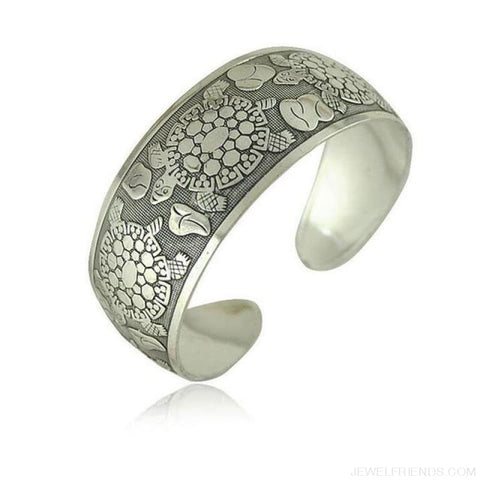 Image of Ethnic Carved Pattern Elephant Cuff Bracelets - Sxrz602 - Custom Made | Free Shipping