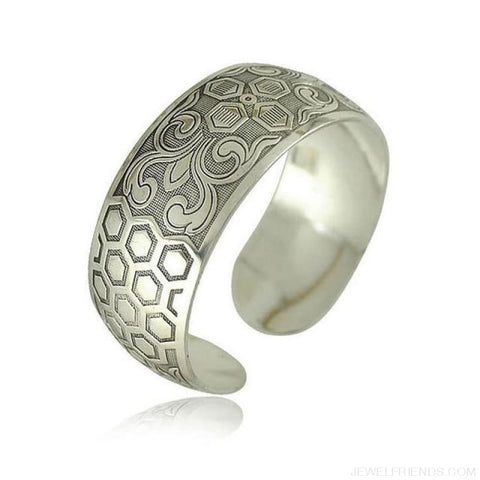 Image of Ethnic Carved Pattern Elephant Cuff Bracelets - Sxrz603 - Custom Made | Free Shipping