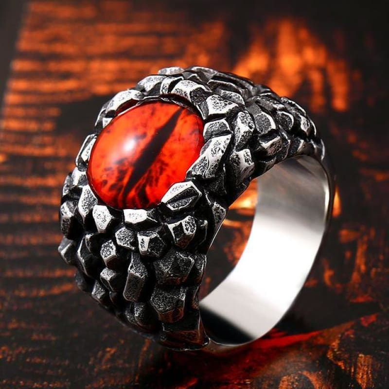 Evil Eye Ring - 7 / B Style Red - Custom Made | Free Shipping