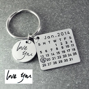 Fathers Day Calendar Keychain - Custom Made | Free Shipping