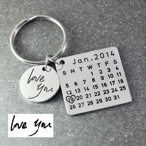 Image of Fathers Day Calendar Keychain - Custom Made | Free Shipping
