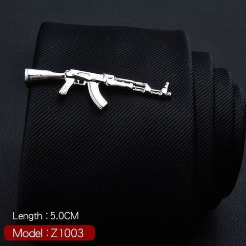 Feather Glasses Anchor Mustache Key Shape Silver Metal Tie Clip - Z1003 - Custom Made | Free Shipping