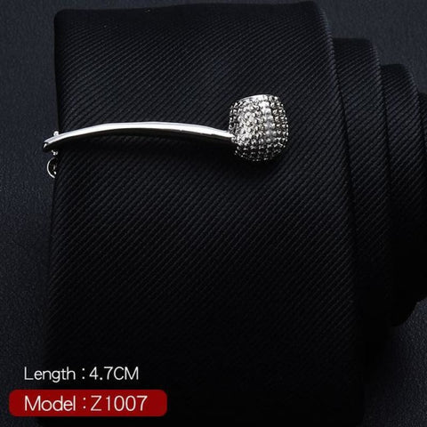 Feather Glasses Anchor Mustache Key Shape Silver Metal Tie Clip - Z1007 - Custom Made | Free Shipping