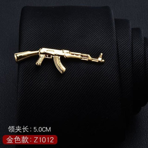 Feather Glasses Anchor Mustache Key Shape Silver Metal Tie Clip - Z1012 - Custom Made | Free Shipping
