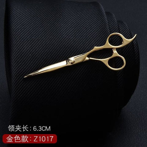 Feather Glasses Anchor Mustache Key Shape Silver Metal Tie Clip - Z1017 - Custom Made | Free Shipping