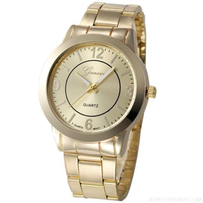Feminino Rose Gold Silver Watch Quartz Analog - Golden - Custom Made | Free Shipping