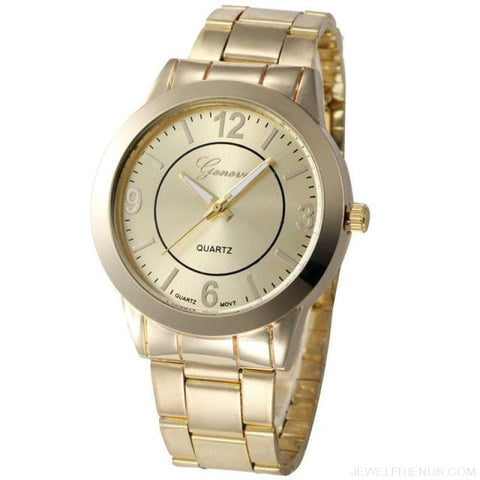 Image of Feminino Rose Gold Silver Watch Quartz Analog - Golden - Custom Made | Free Shipping