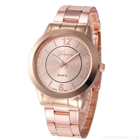 Image of Feminino Rose Gold Silver Watch Quartz Analog - Rose Gold - Custom Made | Free Shipping