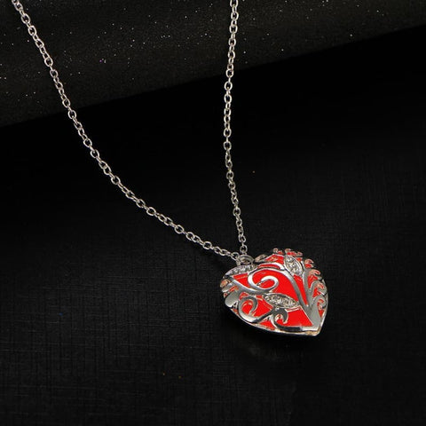 Image of Festoon Heart Pendant Luminous Glow Necklace - Custom Made | Free Shipping