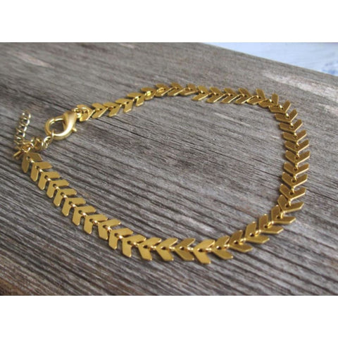 Image of Fishbone Chain Anklets - Custom Made | Free Shipping