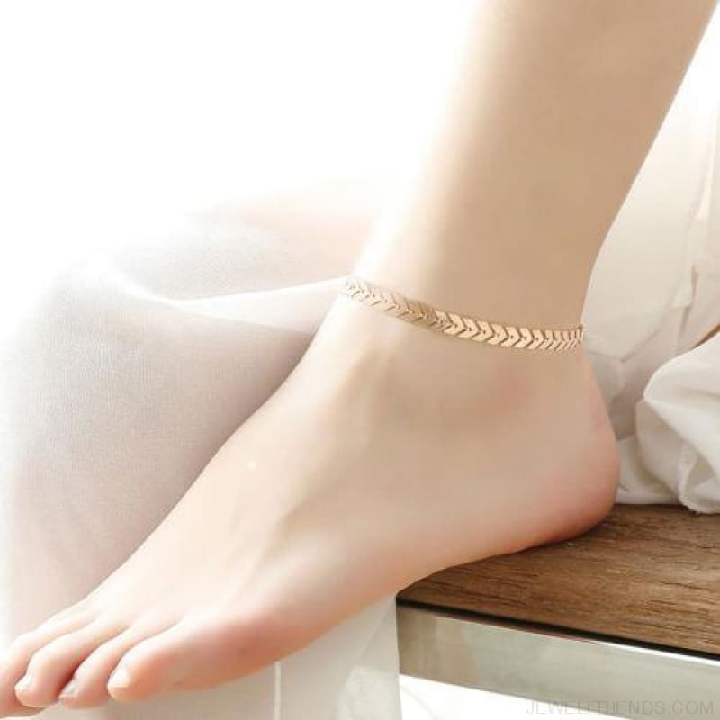 Fishbone Chain Anklets - Custom Made | Free Shipping