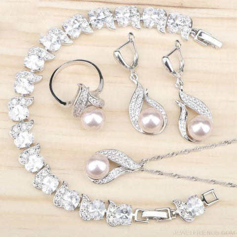 Freshwater Natural Pearl 925 Silver Jewelry Sets - Custom Made | Free Shipping