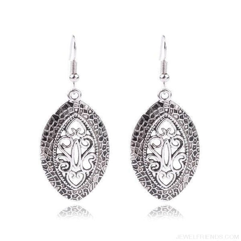 Image of Frill Ethnic Tibetan Silver Earrings - Custom Made | Free Shipping
