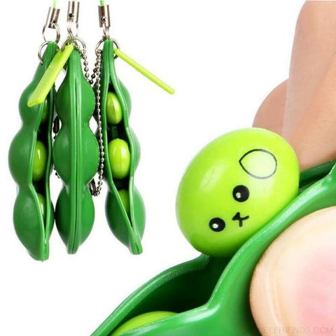 Funny Spoof Tricky Stress Ball Keychains - Beans - Custom Made | Free Shipping