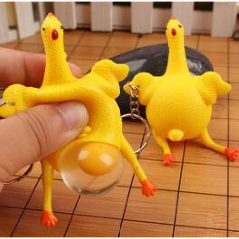 Funny Spoof Tricky Stress Ball Keychains - Chicken - Custom Made | Free Shipping