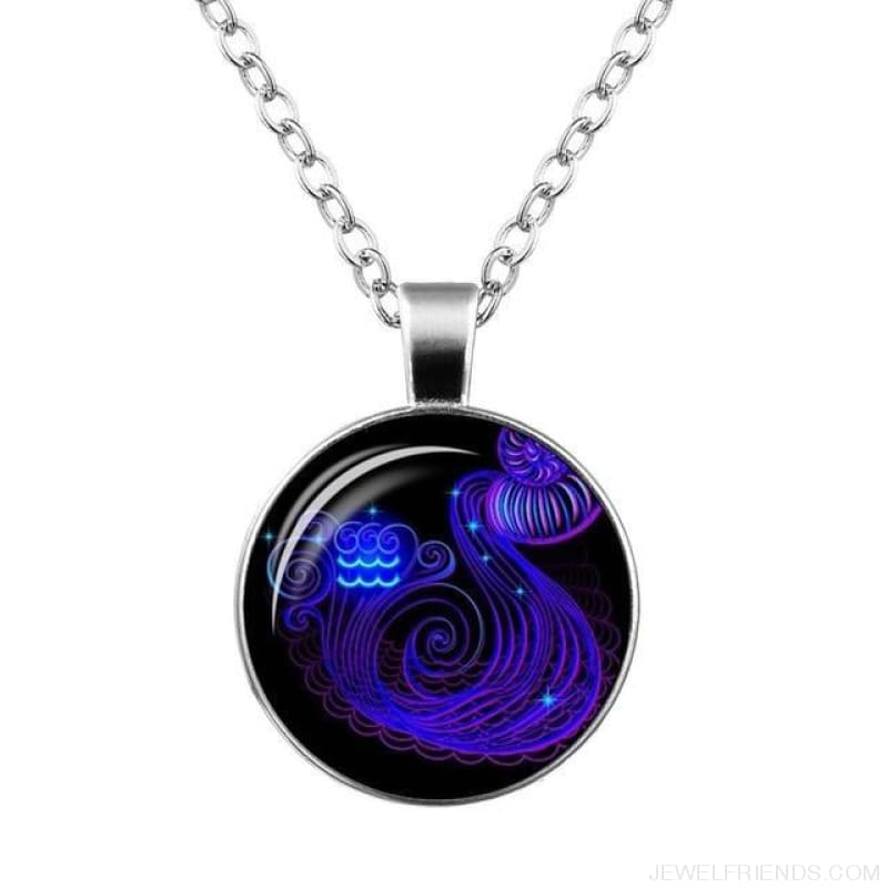 Galaxy Constellation Design Horoscope Necklaces - Aquarius - Custom Made | Free Shipping