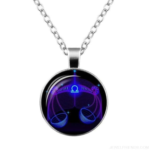 Image of Galaxy Constellation Design Horoscope Necklaces - Libra - Custom Made | Free Shipping