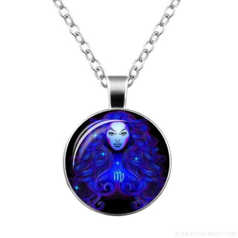 Image of Galaxy Constellation Design Horoscope Necklaces - Virgo - Custom Made | Free Shipping