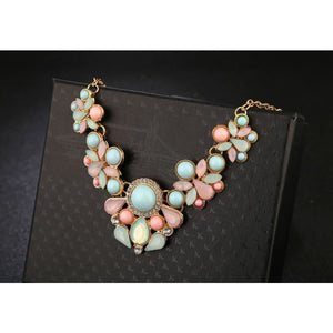 Gem Fresh Candy Color Statement Pendant Necklaces