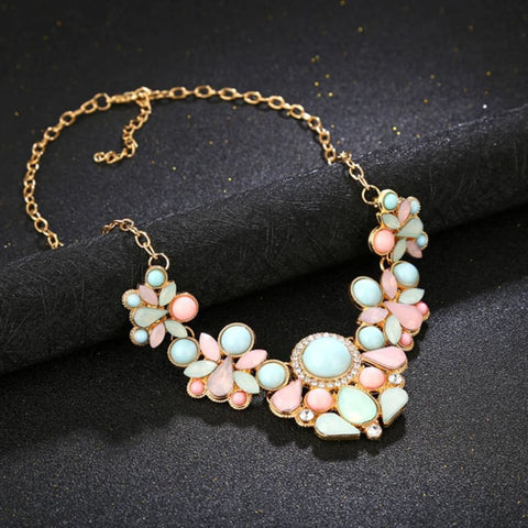 Gem Fresh Candy Color Statement Pendant Necklaces - Custom Made | Free Shipping